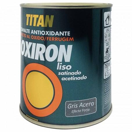 Titan Oxiron  Gris acero 4202 Efecto Forja Liso Satinado
