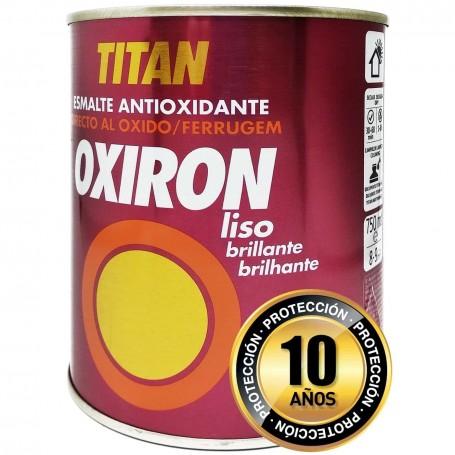 Titan Pintura Esmalte Antioxidante Oxiron Liso Brillante 750ml 4 litros