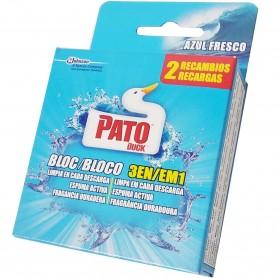 Pato WC Bloque recambio Azul Fresco