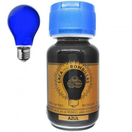 Laca Azul para pintar Bombillas Mongay