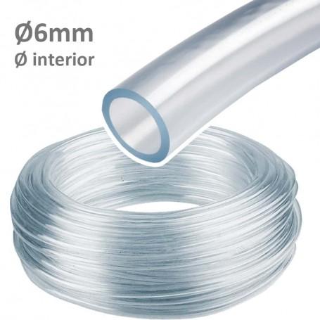 Tubo Manguera Cristal Espirococristal flexible PVC Ø6mm Interior