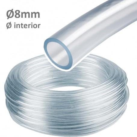 Tubo Ø8mm Interior. Manguera Cristal Espirococristal flexible PVC