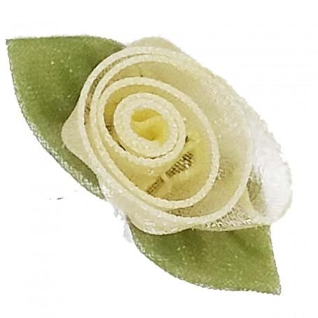Flores Organza Marfil Crema
