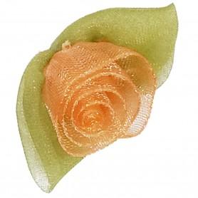 Flores Organza Naranja Salmón