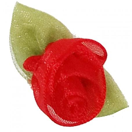 Flores Organza Rojo