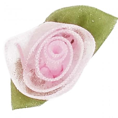 Flores Organza Rosa Bebé