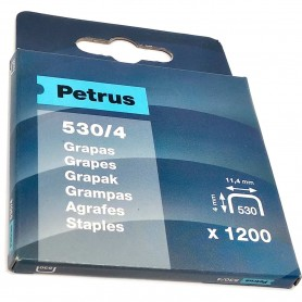 Grapas Petrus 530/4 mm Caja 1200 grapas