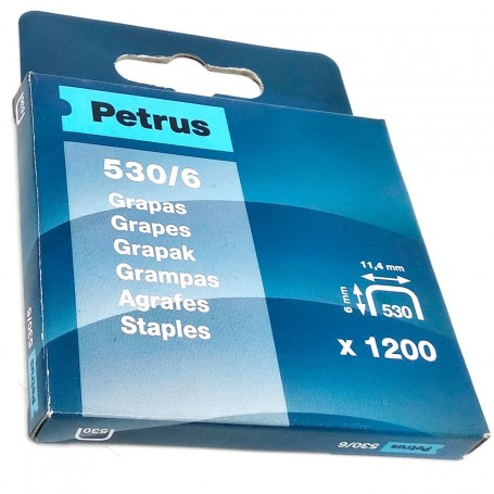 Grapas Petrus 530/6 mm Caja 1200 grapas