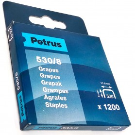 Grapas Petrus 530/8 mm Caja 1200 grapas