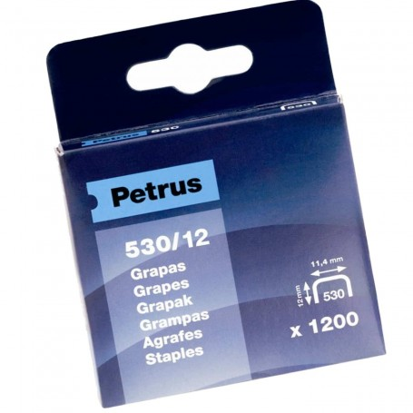 Grapas Petrus 530/12 mm Caja 1200 grapas