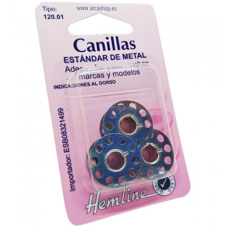 Canillas metálicas de Ø 21 x 8 mm Máquina coser