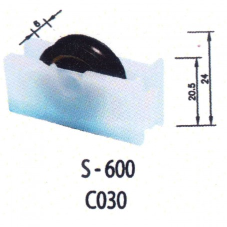 Rodamientos Correderas S600 C030 Puertas - Ventanas
