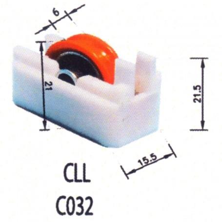 Rodamientos Correderas CLL C032 Puertas - Ventanas