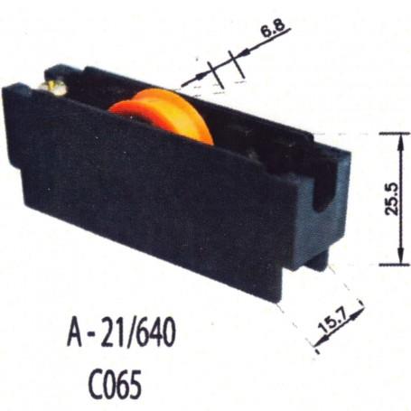 Rodamientos Corredera negro A 21 640 C065 Puertas - Ventanas