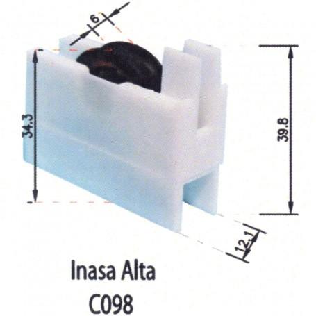Rodamientos Corredera Inasa Alta Blanco C098 Puertas - Ventanas