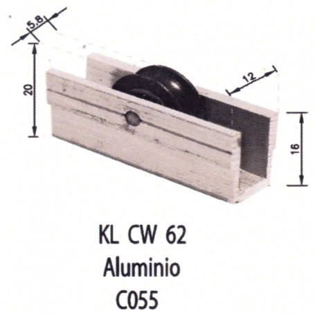 Rodamientos Corredera Aluminio C055 Puertas - Ventanas