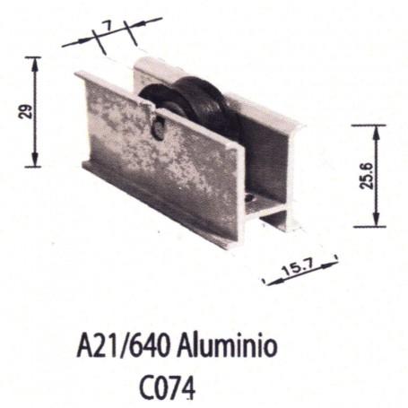 Rodamientos Corredera A 21 640 Aluminio C074 Puertas - Ventanas