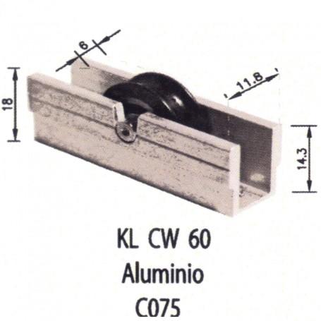 Rodamiento Corredera KL CW 60 Aluminio C075 Puertas - Ventanas