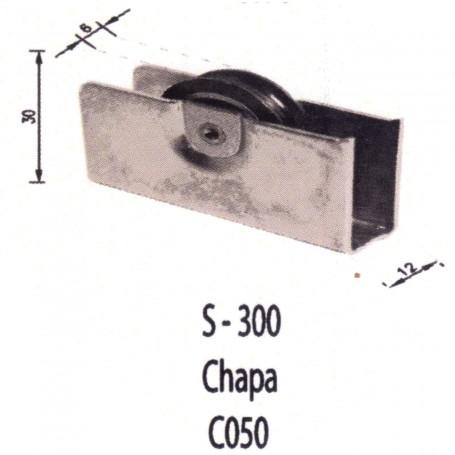 Rodamiento Corredera S300 Chapa Metal C050 Puertas - Ventanas