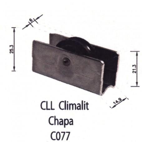 Rodamiento Corredera CLL Chapa C077 Puertas - Ventanas