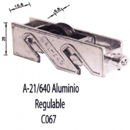 Rodamiento Corredera Aluminio A 21 640 Regulable C067 Puertas - Ventanas