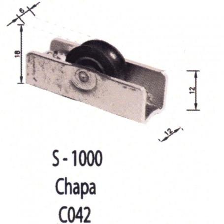 Rodamientos Puertas - Ventanas Correderas S1000 Chapa C042