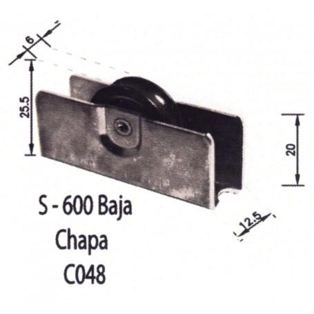 Rodamientos Puertas - Ventanas Correderas S 600 Chapa C048