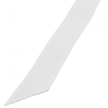 Elástico Blanco trenzado standard ancho 5 mm, 7 mm, 10 mm, 12mm y 16mm