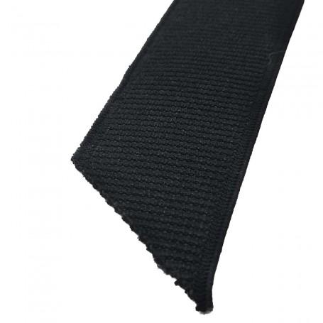 Cinta Elástica Negra Semiblanda ancho 18 mm, 22 mm, 25 mm y 30 mm. Rollos 25 metros.