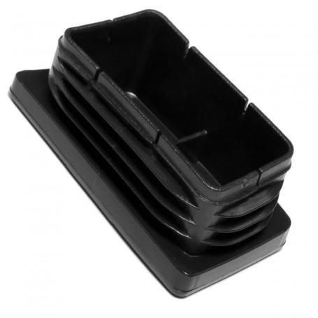 Contera Tapón presión Rectangular Plástico Negro