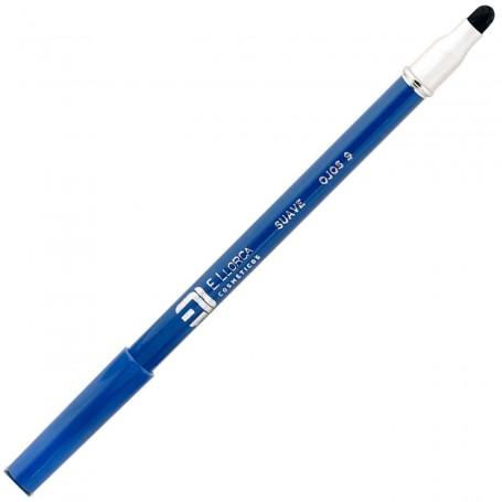 09 Azul Añil Lápiz Perfilador Ojos Suave con Difuminador