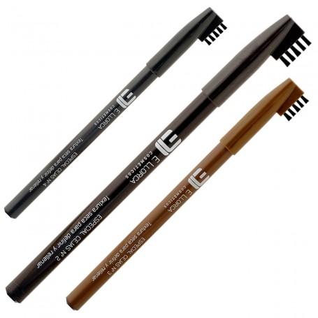 Lápiz Marrón definición Cejas con cepillo Elisabeth Llorca