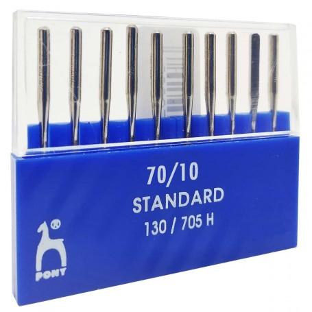 Agujas 70/10 máquinas de coser 130/705H PONY