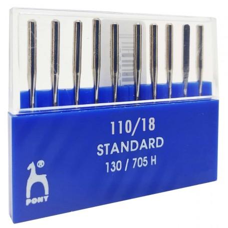 Agujas 110/18 máquinas de coser 130/705H PONY