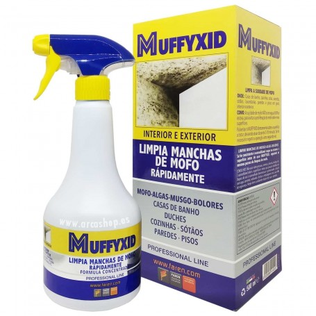 Limpiador Manchas de Moho, Verdín, musgos y algas. Limpiador Moho Muffyxid Faren