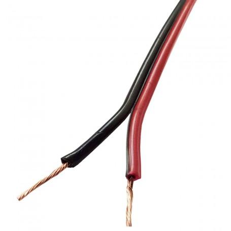 Cable Audio Rojo y Negro. Cable audio por metro y rollo 100 metros
