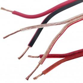 Cable Audio Bicolor Transparente Rojo y Naranja libre de halógenos