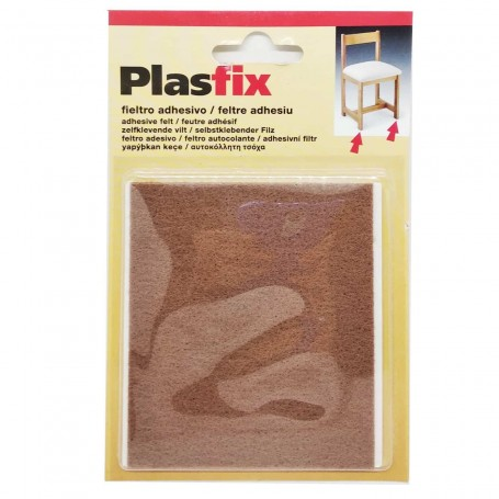 Lámina de fieltro adhesivo de 100x85 mm para cortar. Para patas de mesas y sillas