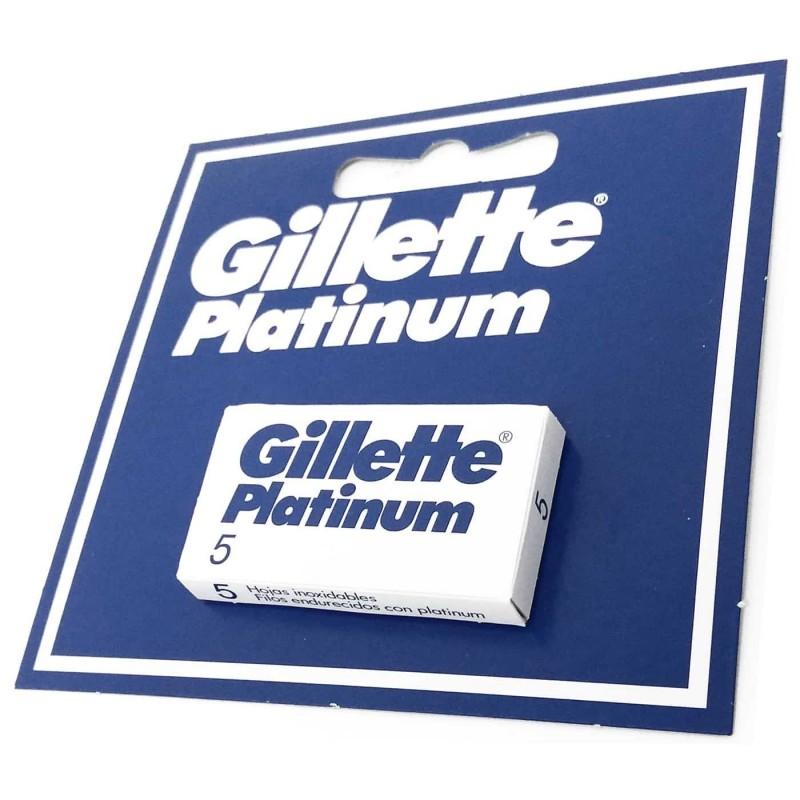 Hojas Cuchillas Guillete Platinum Original para Afeitado