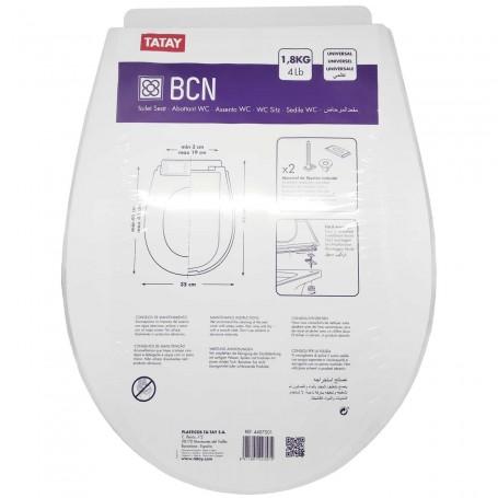 Tapa asiento Water WC Universal BCN Tatay Blanco