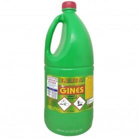 Lejía Pino con detergente Lejías Gines 2 litros. Lejía barata con detergente.