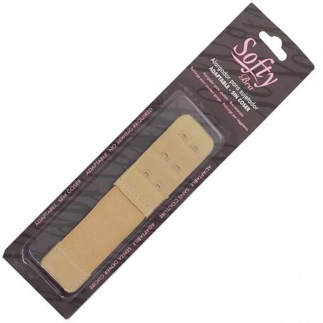 Alargador elástico para Sujetador Color Piel Tostada Softy Bra sin coser (nylon y elastano) mod. 054602