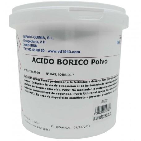 Ácido bórico en polvo de 1kg antisépticos insecticidas cucarachas.