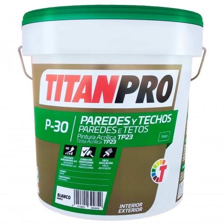 Titanpro P-30 Pintura acrílica TP23 paredes y techos