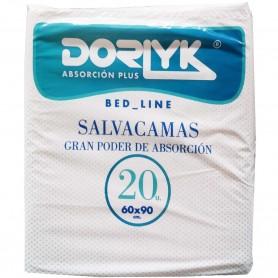 Salvacamas 60x90 cm Dorlyk 20 unidades. Protector cama incontinencia urinaria embarazadas, ancianos, enfermos, bebés, etc.