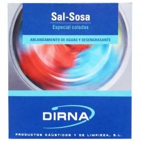 Sal Sosa polvo Dirna, desengrasante, potenciador detergente de lavadora, limpieza de sanitarios, cocina, etc.