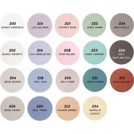 Pintura a la Tiza Chalk Paint Titanlux. Pintura 19 colores, Barniz incoloro y Cera incolora.