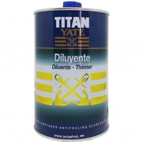 Diluyente Titan Yate para pinturas, barnices y esmaltes de Poliuretano, Antifouling, Expoxis y Clorocaucho.