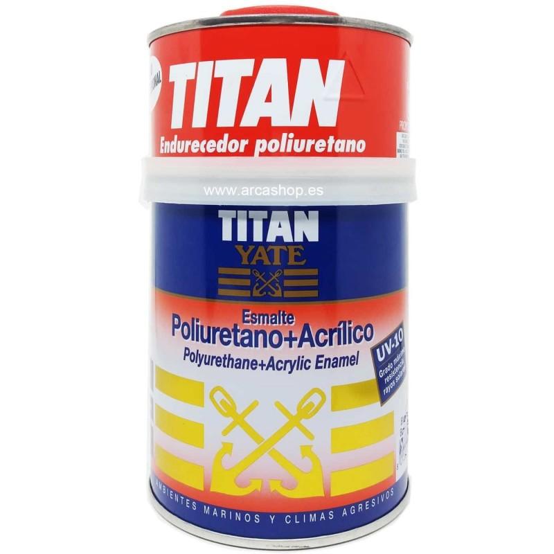 Esmalte poliuretano + acrílico. Titan Yate.