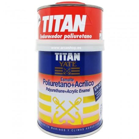 Titan Yate. Esmalte poliuretano + acrílico. Blanco Satinado o Brillante de dos componentes.